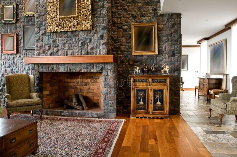 Innenarchitekturserie: klassisches Wohnzimmer lizenzfreies stockbild