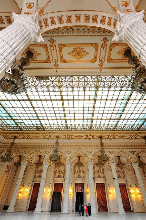 Innenaufnahme mit dem Palast des Parlaments stockbilder