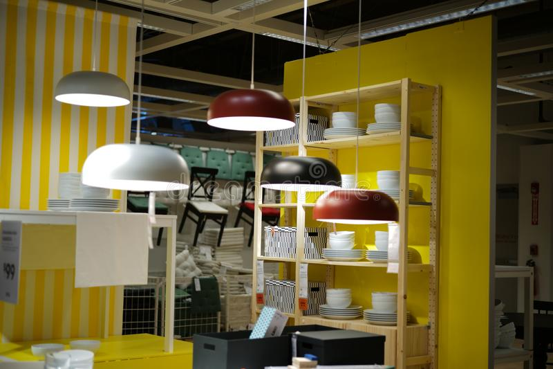 Innenaufnahme von IKEA lizenzfreies stockfoto