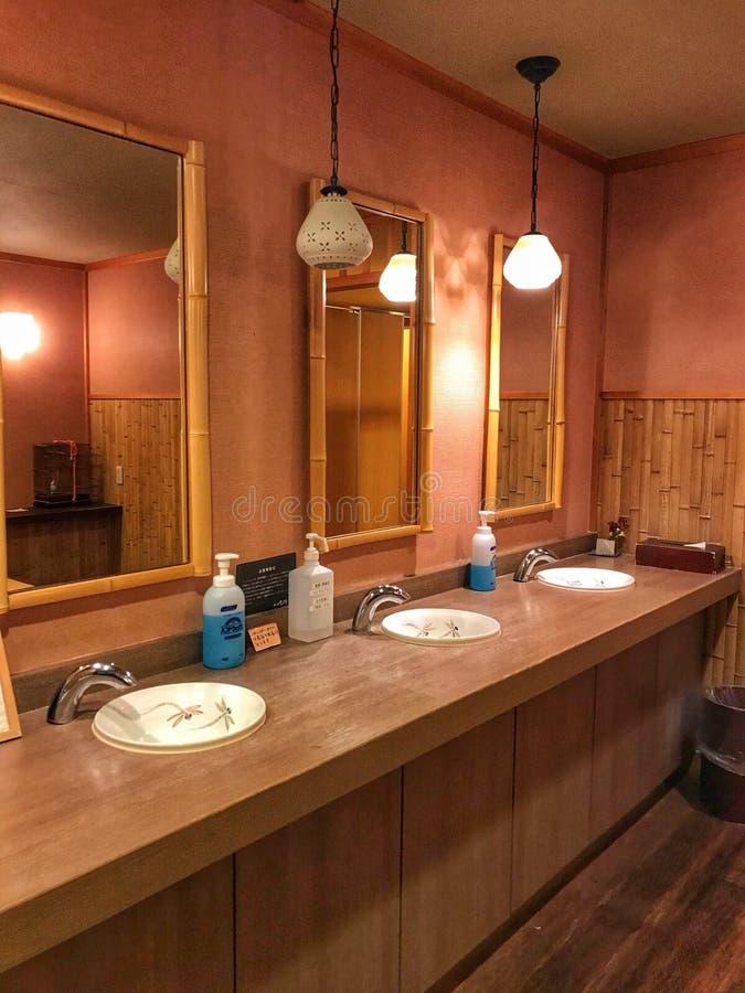 Innenaufnahme von Setsugetsuka-Hotel r lizenzfreies stockbild