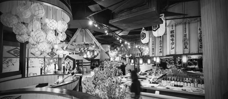 Innenausstattung des japanischen Restaurants an K Straße Klong Toei Bangkok Thailand Dorf-Gemeinschaftsmall Rama 4 lizenzfreies stockbild