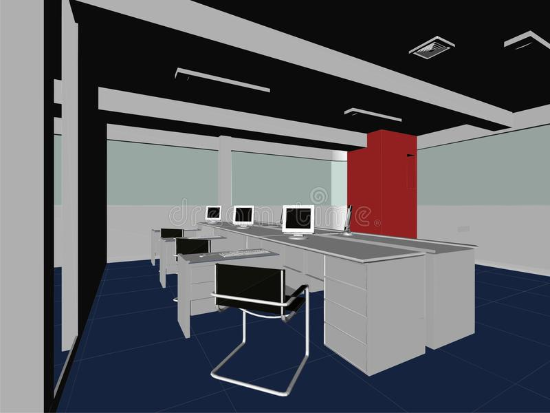 Innenbüro-Raum-Vektor 08 vektor abbildung