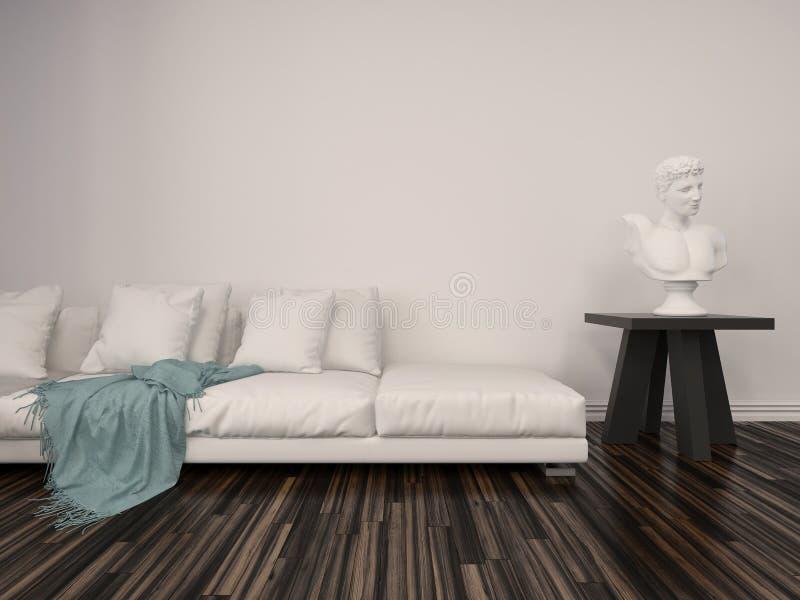 Innendekor in einem klassischen Wohnzimmer stock abbildung