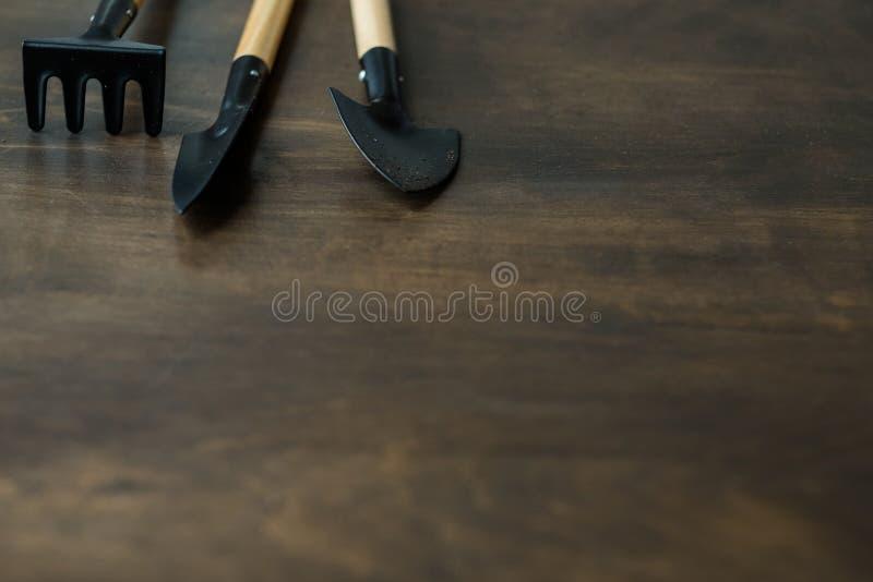 Innengartenarbeitausrüstungs-Hausgartenkopienraum stockfoto