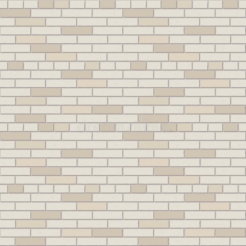 Innengraphik des weißen und grauen Backsteinmauervektor-Musters lizenzfreie abbildung