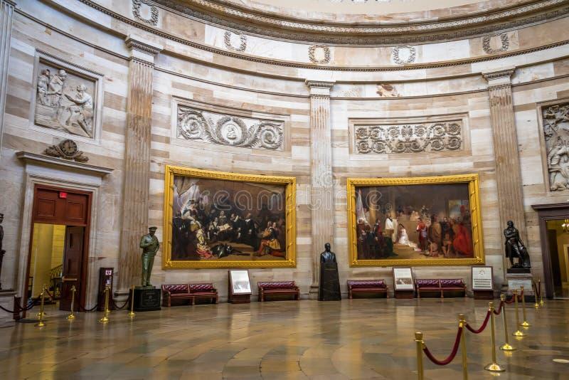 Innenhalle des Kapitol-Gebäudes - Washington, D C , USA lizenzfreie stockfotos
