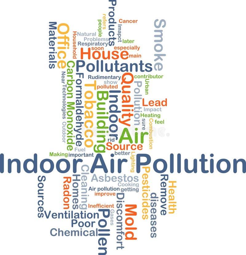 Innenluftverschmutzungs-Hintergrundkonzept lizenzfreie abbildung