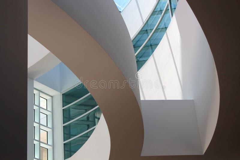 Innenraum der Getty Mitte - Los Angeles stockfotos