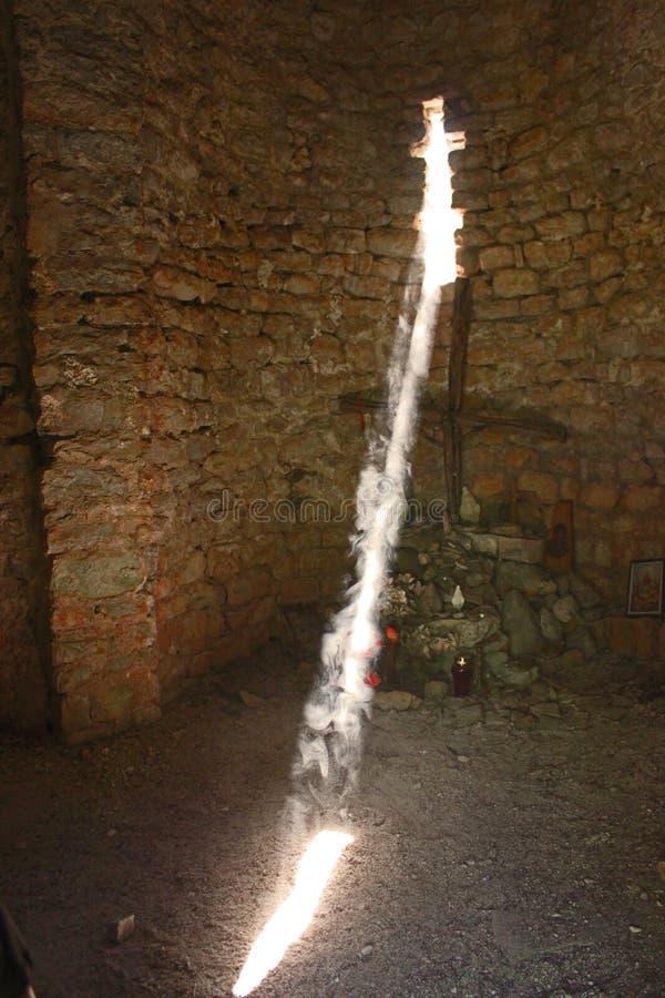 Innenraum der Kapelle des Heiligen Krsvan Heiliges Licht lizenzfreies stockfoto