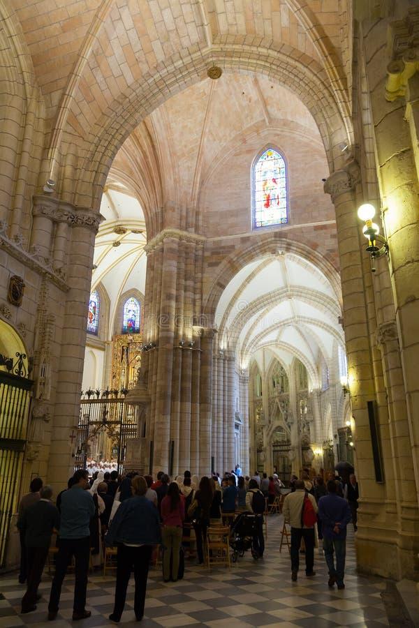 Innenraum der Kathedrale der Heiliger Maria in Murcia stockfoto