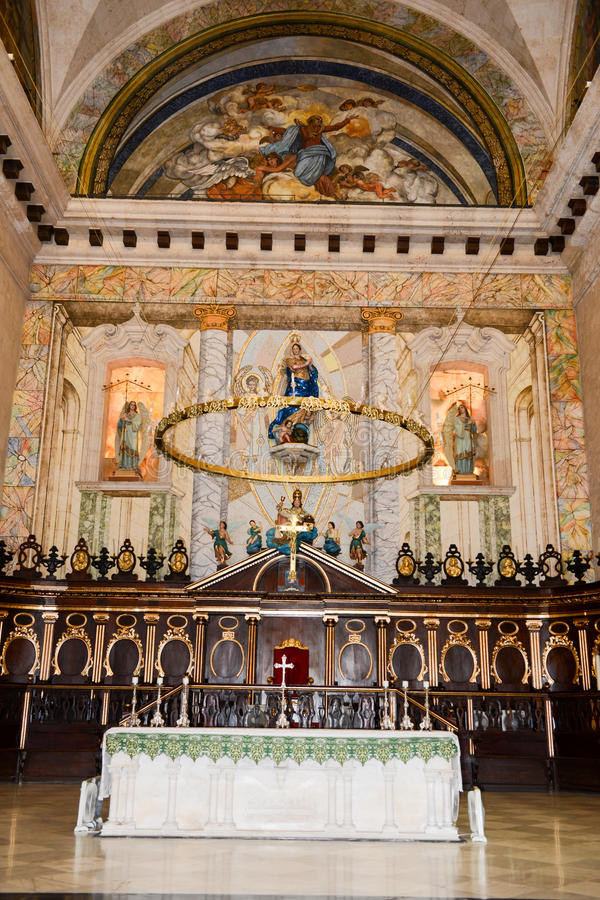 Innenraum der Kathedrale San Cristobal in altem Havana stockbilder