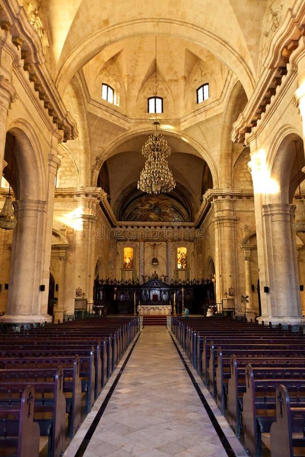 Innenraum der Kathedrale von Havana lizenzfreie stockfotografie