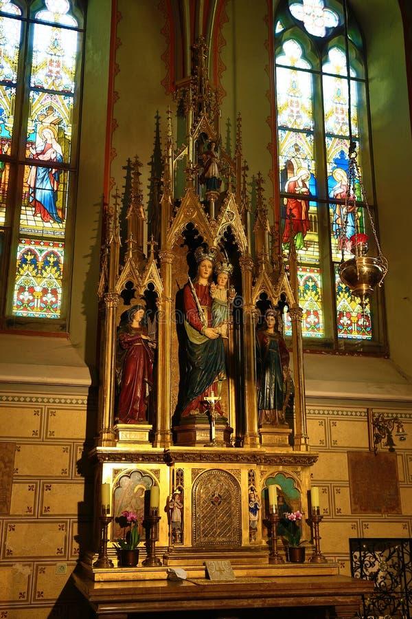 Innenraum der Kirche von St Peter und von Paul an VyÅ-¡ ehrad, Prag, Tschechische Republik stockbilder