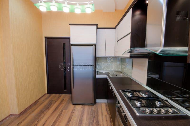 Innenraum Der Modernen Küche Stockfoto