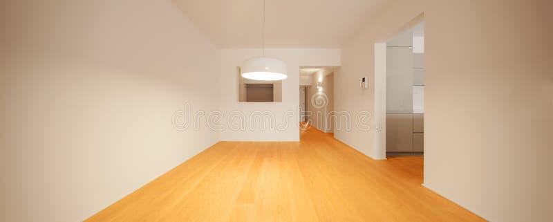Innenraum der modernen Wohnung, leerer Raum stockfoto