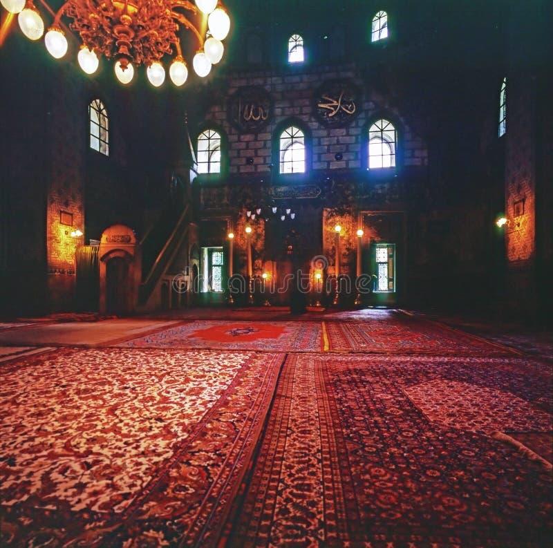 Innenraum der Moschee, Sarajevo lizenzfreie stockbilder