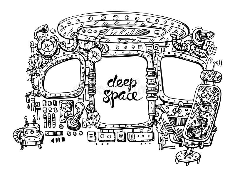 Innenraum der Platzlieferung lizenzfreie abbildung