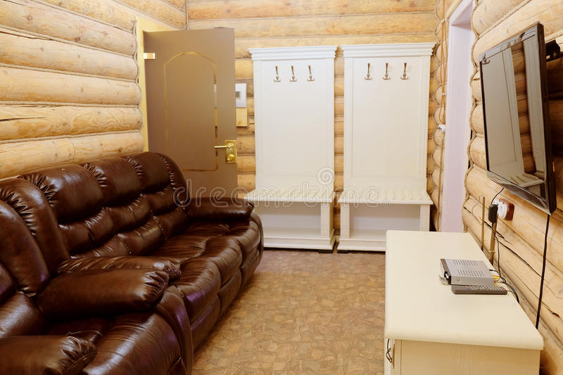 Innenraum der Toilette stockbilder