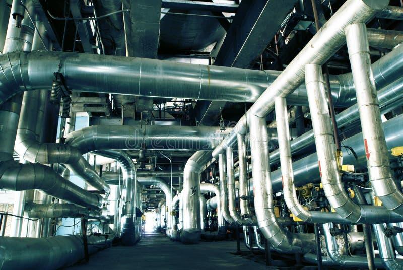 Innenraum der Wasseraufbereitungsanlage stockbild