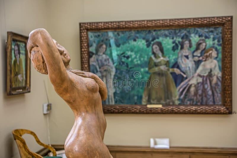 Innenraum der Zustands-Tretjakow-Galerie in Moskau stockfoto