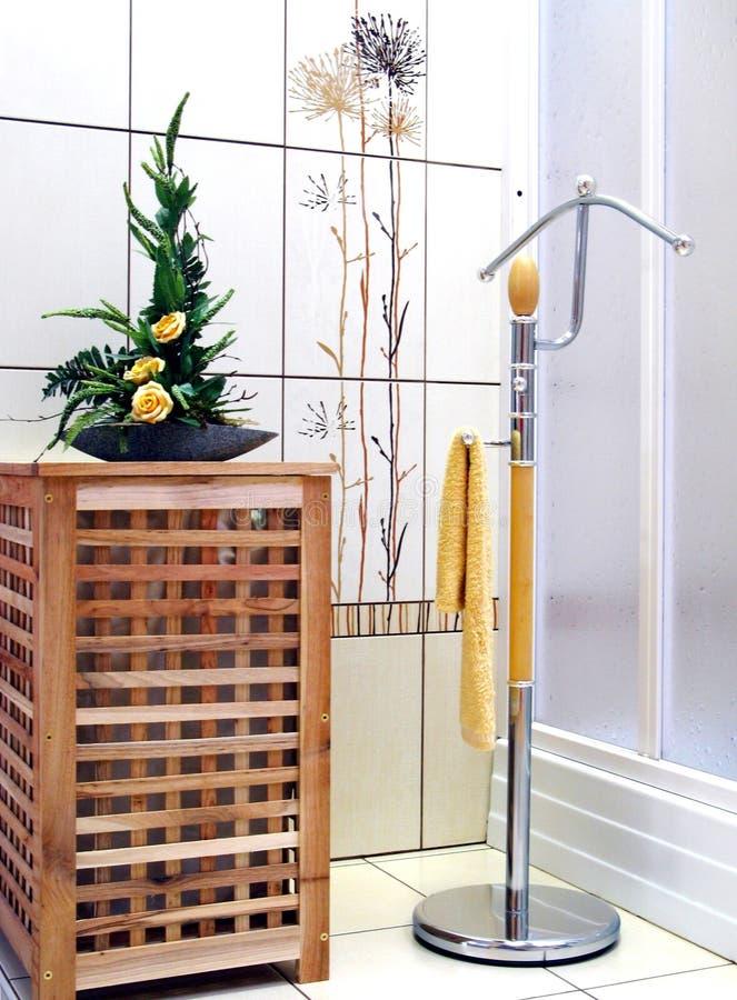 Innenraum des Badezimmers - Heizung stockfotos