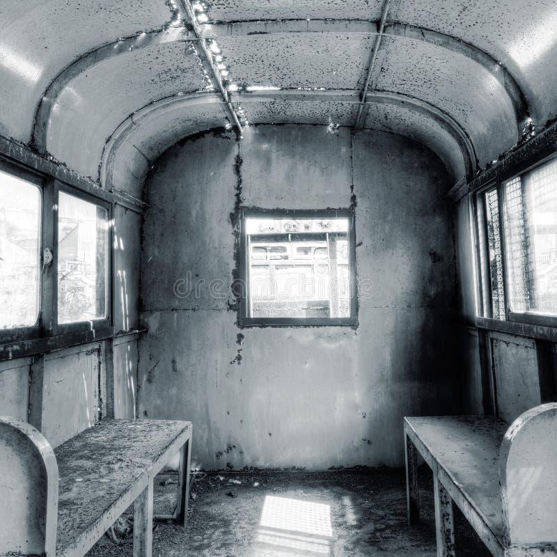 Innenraum des Bahnwagens stockfotos