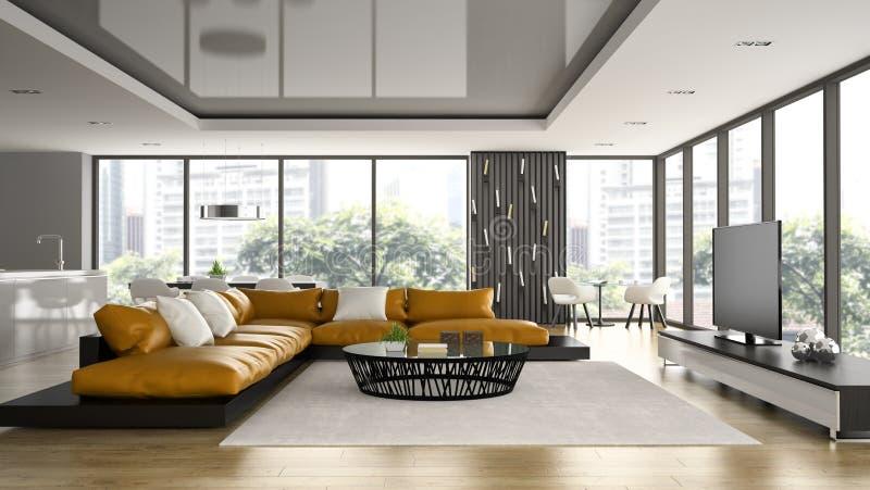 Innenraum des Dachbodens des modernen Designs lizenzfreie abbildung