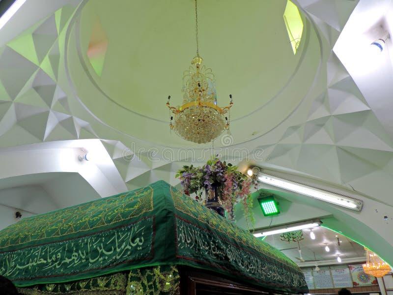 Innenraum des Grabs des Prophets Hud und des Prophets Saleh, Kerbela, der Irak stockfoto