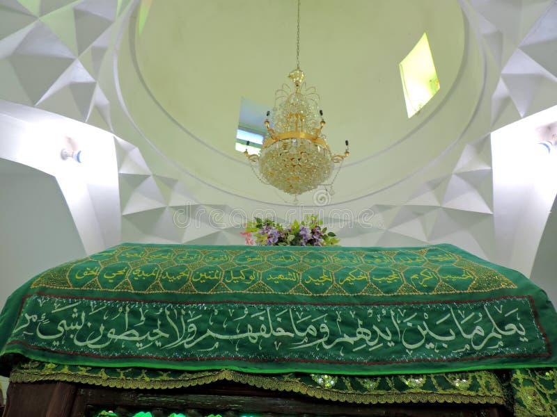 Innenraum des Grabs des Prophets Hud und des Prophets Saleh, Kerbela, der Irak stockbilder