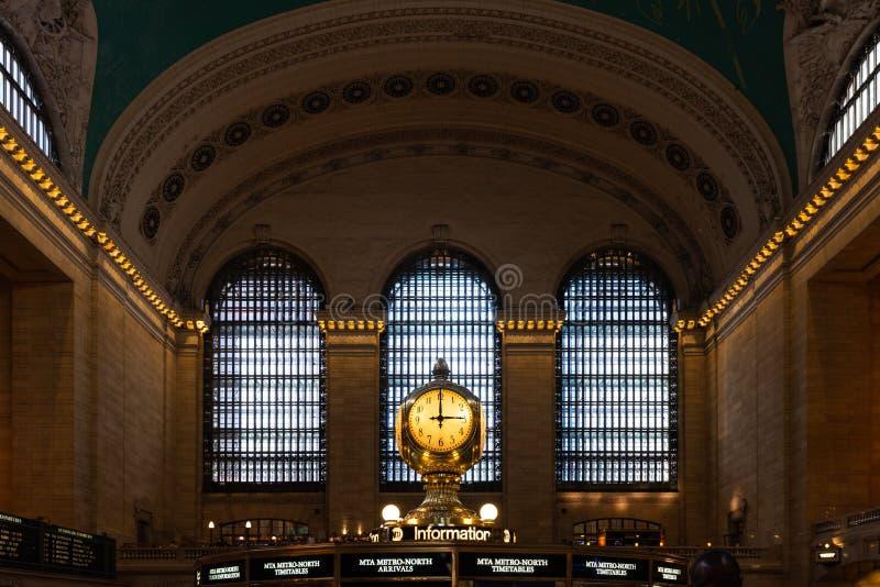 Innenraum des Grand Central Station, New York City, Vereinigte Staaten lizenzfreie stockfotos