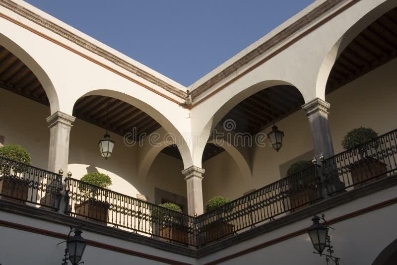 Innenraum des Hauses des corregidora lizenzfreie stockfotografie