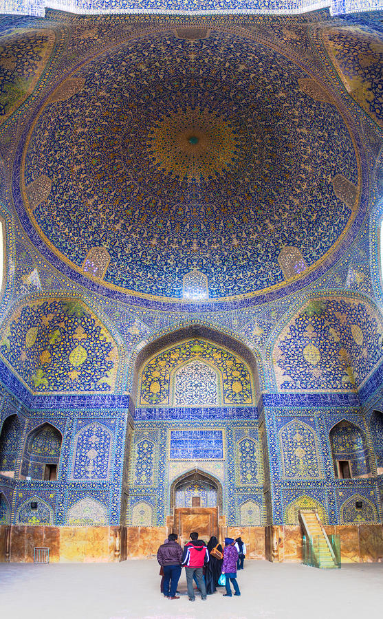 Innenraum des Imams Mosque in Isfahan stockfotos