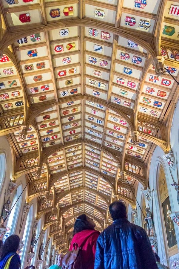 Innenraum des königlichen Palastes in mittelalterlicher Windsor Castle Großbritannien lizenzfreies stockfoto