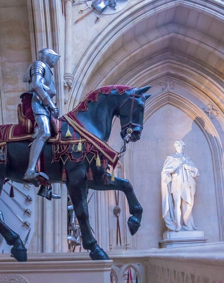 Innenraum des königlichen Palastes in mittelalterlicher Windsor Castle Großbritannien stockfoto