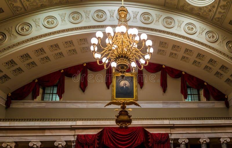 Innenraum des Kapitols Washington, D errichtend C , USA lizenzfreie stockbilder