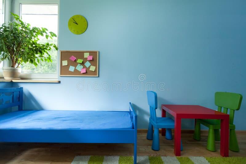 Innenraum des Kinderraumes stockbilder