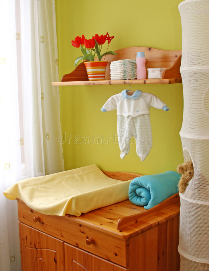 Innenraum des Kindraumes lizenzfreie stockbilder