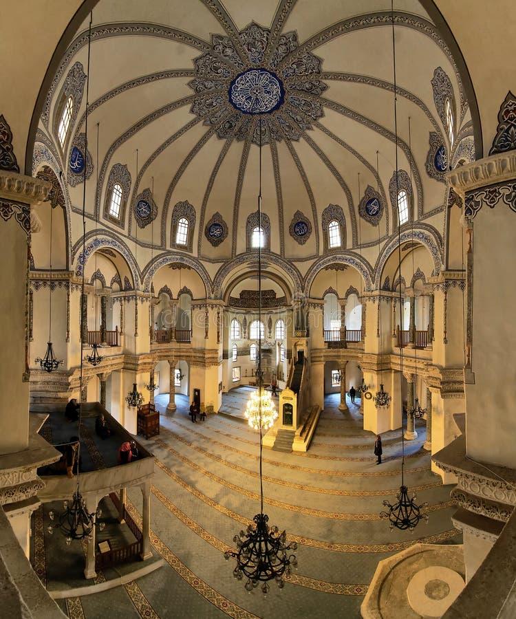 Innenraum des kleinen Hagia Sophia in Istanbul lizenzfreies stockbild