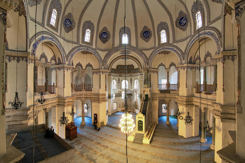 Innenraum des kleinen Hagia Sophia in Istanbul lizenzfreie stockfotos