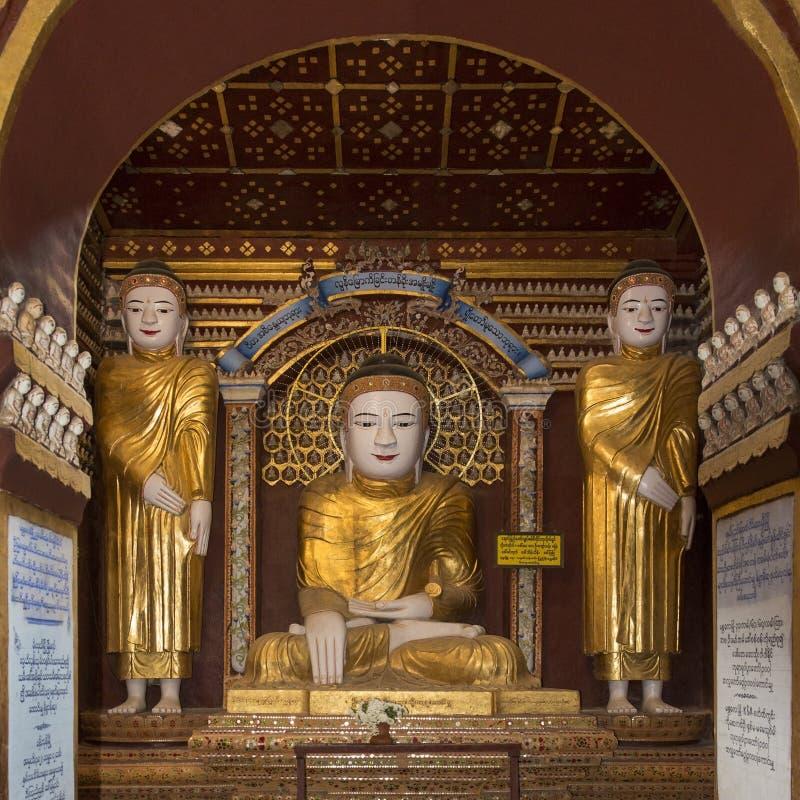 Thambuddhei Paya - Monywa - Myanmar stockbild