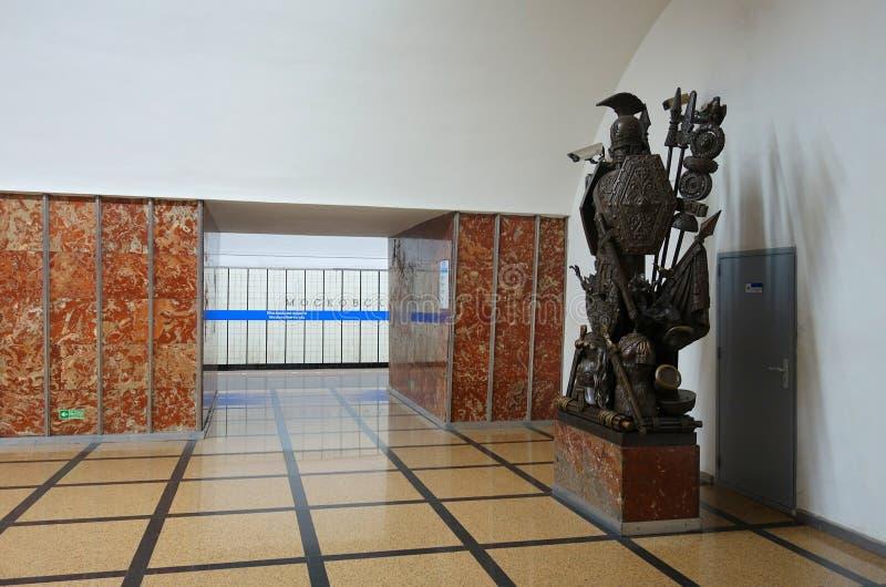 Innenraum des Metrostation Moskau-vorota stockfoto