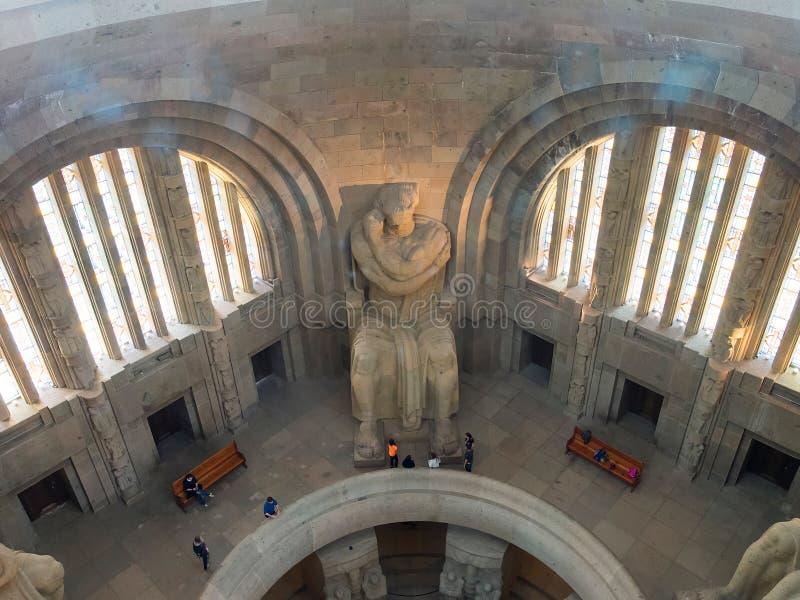 Innenraum des Monuments zum Kampf der Nationen, Leipzig stockfoto