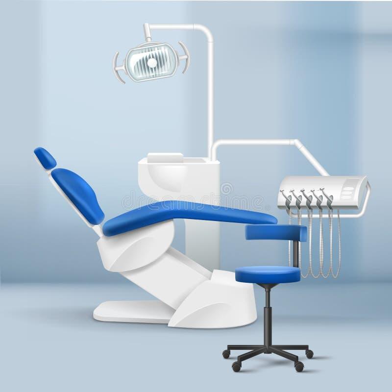 Innenraum des Raumes der zahnmedizinischen Praxis vektor abbildung