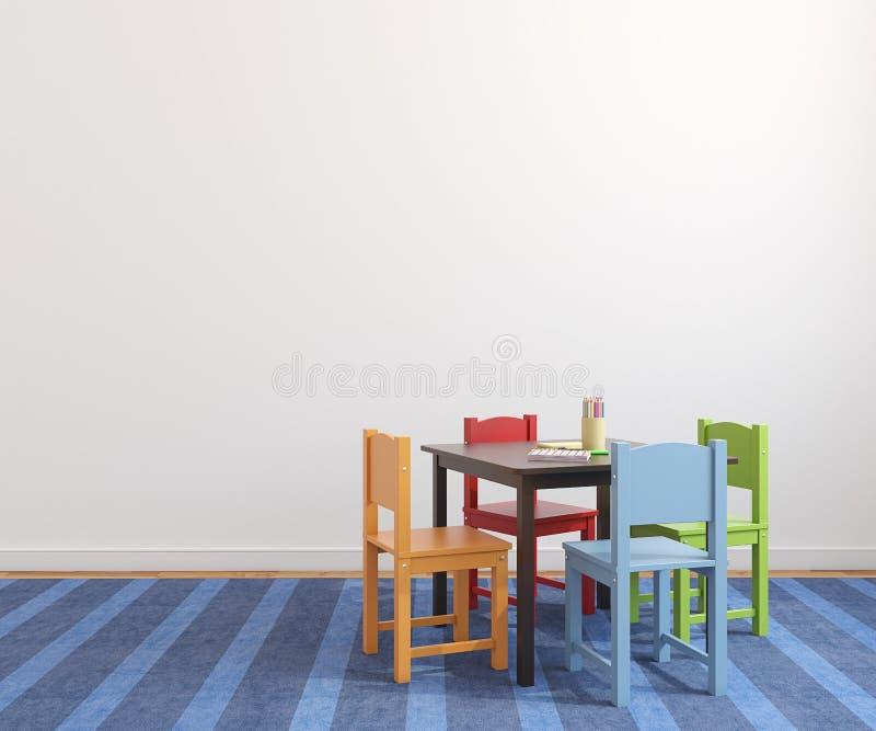 Innenraum des Spielzimmers. stock abbildung