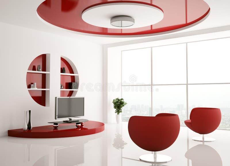Innenraum des Wohnzimmers 3d vektor abbildung