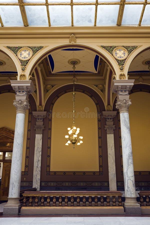Innenraum des Zustand-Kapitols in Indianapolis lizenzfreie stockbilder