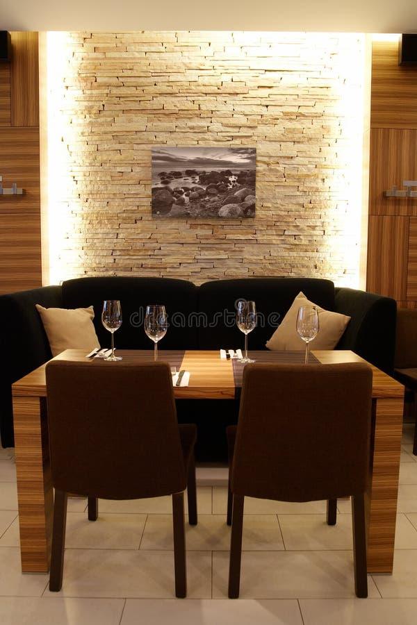 Innenraum einer Gaststätte stockfoto