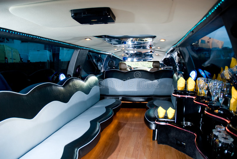 Innenraum einer Limousine lizenzfreie stockfotografie