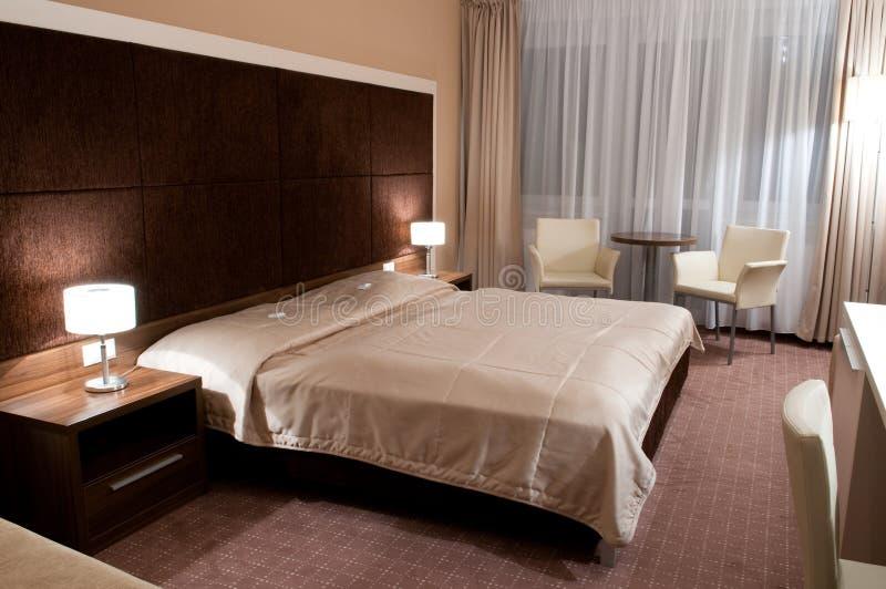 Innenraum eines Hotelzimmers lizenzfreie stockfotografie