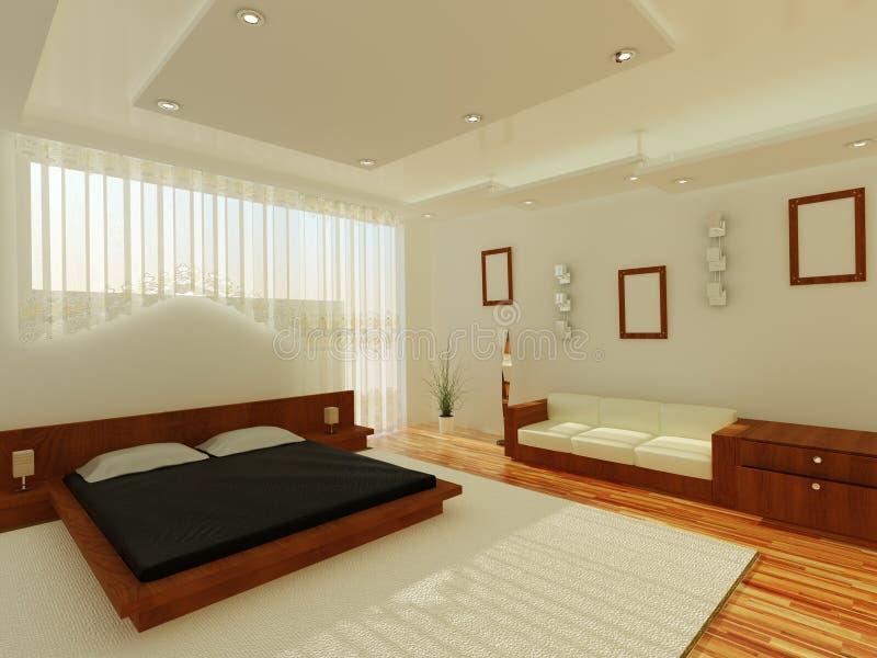 Innenraum eines schlafenden Raumes lizenzfreie abbildung